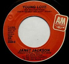 "JANET JACKSON Young Love / The Magic Is Working 7"" 45rpm A&M Records 1982"
