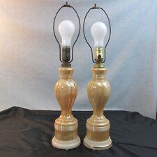 Aladdin Alacite Golden Luster Illuminated Table Lamp