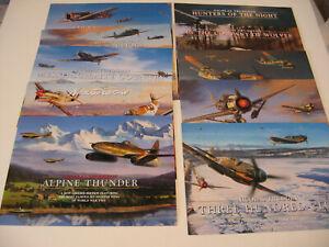 Lot of 10 Luftwaffe Aircraft Nicolas Trudgian Aviation Art Advertising Brochure
