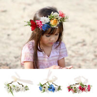 Baby Flower Headband Newborn Hairband Garland Headwear Hair Band   Accessories