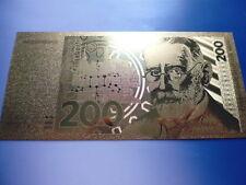 200 DM / 24 KARAT GOLD / GOLDFOLIENNOTE GOLDBARREN #4623