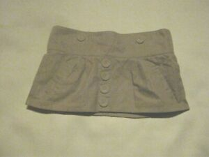 "9 1/4""  Beige Micro Mini Skirt Size 10"