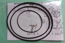 Riemen-Set f Philips N-4404 N-4407 N-4408 Tonbandmaschine Tape Recorder Belt-Kit