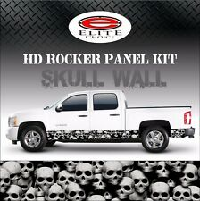"Skull Wall Rocker Panel Graphic Decal Wrap Truck SUV - 12"" x 24FT"