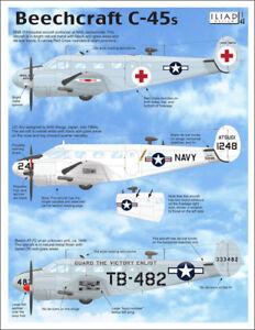 Beechcraft C-45s (1/48 decals, Iliad 48033)
