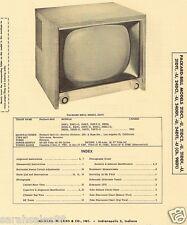 1956 Service Photofact PACKARD-BELL 21DC1 U 21DC2 21DD1 21T1 24DC1 24DT1 98D1 TV