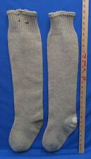 Vintage Men's Extra Long Extra Heavy Wool Knit Stockings Lumberjack Hunting