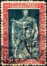 ITALIA - Regno - 1928 - 400° nascita di Emanuele Filiberto e 10° Vittoria - 25 c