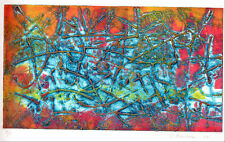 1974 Original Intaglio organic ABSTRACT by O. BENTER - Artist's Proof - etching