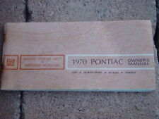 1970 Pontiac G.T.O Factory GM Original First Edition Owners Manual Canadian RARE