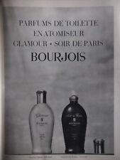 PUBLICITÉ PARFUM DE TOILETTE EN ATOMISEUR GLAMOUR BOURJOIS