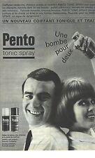 PUBLICITE ADVERTISING  1960  PENTO tonic spray coiffant en bombe