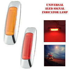 2Pcs Universal 12V-24V Truck Trailer Side 8LED Signal Lamp Indicator Brake Light