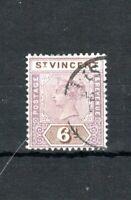 St Vincent 1899 6d FU CDS