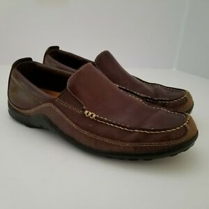 Cole Haan Mens 8.5 M Tucker Venetian Loafers Two-Tone Brown Leather and Suede