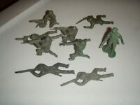 Vintage 2-3 inch Plastic Soldiers lot of 9 some rare poses
