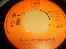 "MOTT THE HOOPLE "" ALL THE WAY FROM MEMPHIS "" 7"" SINGLE VG 1973"