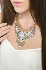 Necklace Statement Tribal Pendant With Gem Design Fashion Style Jewelry
