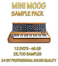 Minimoog échantillons-KONTAKT NKI-Motif Recharge + WAV formats - 12 DVD - 46 Go