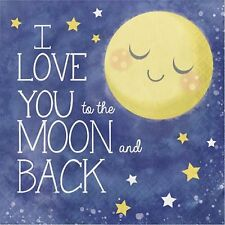 I love You to the Moon and Back Luncheon Napkins-Package of 16-NEW-2ply-13x13