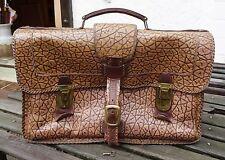 Vintage Bag espaciosa XXL bulto de actos de cuero bolso Oldtimer clave M.