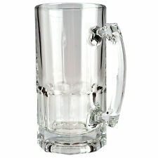 34 oz 500 ML Beer Mugs Bar Ale Clear Thick Glass Mug Tall Stein - Set of 12 -USA