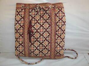 Vera Bradley Small Backpack Drawstring Backsack Medallion 13 x 11 x 2 EUC