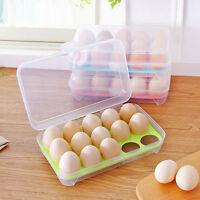 Neu EIERBOX für 15 Eier WEISS Eierdose Eieraufbewahrung Vorratsdose Behälte D3M1