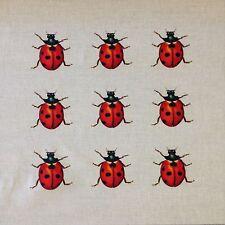 TEX EX ORIGINALE Flora & Fauna COCCINELLA COLLECTOR Cuscino Pannello Biancheria Bug insetto