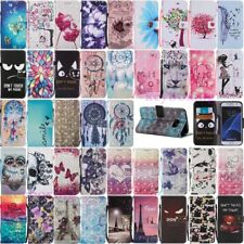 For Samsung Galaxy S7 Edge S8 Plus Wallet Leather Case Flip Stand Phone Cover