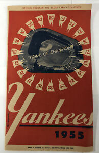1955 Boston New York Yankees  Program Mantle, Williams S515