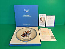 NEW SCHMID 1982 Berta Hummel Christmas Plate ANGELIC PROCESSION Orig Box Papers