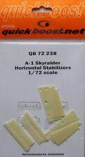 Quickboost 1/72 A-1 Skyraider Horizontal Stabilisers # 72238