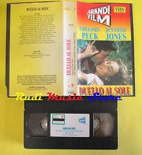 film VHS DUELLO AL SOLE Gregory Peck Jennifer Jones GRUPPO LOGICA 9 (F64) no dvd