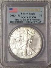 2013 (S) SILVER EAGLE PCGS MS70 First Strike STRUCK AT SAN FRANCISCO