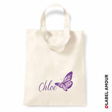PERSONALISED Name Favour Party Gift Canvas Tote Bag | Butterfly