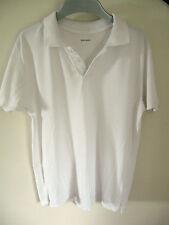 John Lewis 100% Cotton White Polo Shirt Age 15 years Unisex