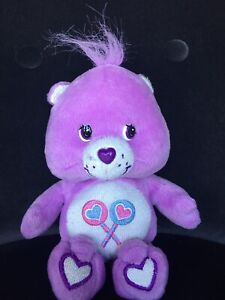 "Care Bear 8"" Glow A Lot SHARE BEAR Purple Plush Toy"