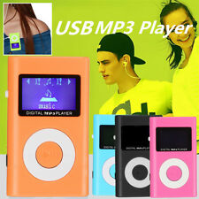 Mini Lettore MP3 Player Clip Fm Radio LCD Supporta 32GB Micro SD TF USB + Cuffia