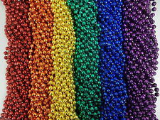 72 Rainbow Colors Mardi Gras Beads Necklaces Party Favors 6 Dozen Lot