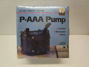 NEW Little Giant 523003 P-AAA 120 GPH Intake Submersible Water Pump T1 SEALED