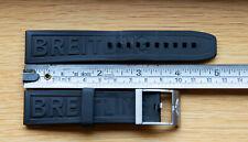 Breitling Black Diver Pro 3 Rubber Strap 22-20mm, brushed steel pin buckle