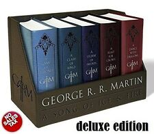 A Song of Ice And Fire 5 Books Box Set Deluxe Leather Cloth Bound Collector Gift