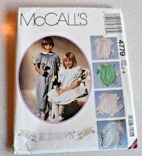 McCall's Kitty Benton Size 4 #4779 Girl Pattern Dress Pinafore Blue Transfer