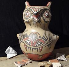 "Santa Clara 8.5"" OWL EFFIGY POTTERY - Margaret & Luther Gutierrez Vintage c70s"