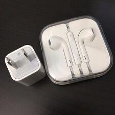 Apple iPhone white EarPods + USB power adapter NEW Original OEM headphones
