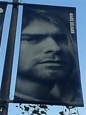 "Kurt Cobain of Nirvana ""Who Shot Rock N' Roll"" Annenberg Exhibit Street Banner"
