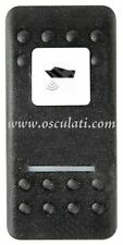 Carlingswitch Black Polycarbonate Hard Switch with Depth Sounder Label