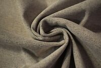 "Taupe Beige Woven Velvet Upholstery Suede Fabric 56""W Soft Plush Durable"