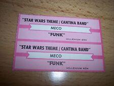 "2 MECO Star Wars Theme / Funk (r) Jukebox Title Strip CD 7"" 45RPM Records"